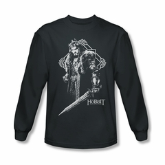 The Hobbit Battle Of The Five Armies Shirt King Thorin Long Sleeve Charcoal Tee T-Shirt