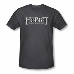 The Hobbit Battle Of The Five Armies Shirt Ornate Logo Adult Heather Charcoal Tee T-Shirt