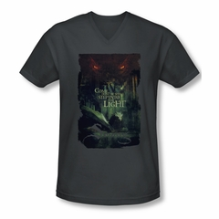 The Hobbit Battle Of The Five Armies Shirt Slim Fit V Neck Taunt Charcoal Tee T-Shirt