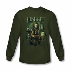 The Hobbit Battle Of The Five Armies Shirt Thorin And Company Long Sleeve Green Tee T-Shirt