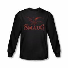 The Hobbit Desolation Of Smaug Shirt Dragon Long Sleeve Black Tee T-Shirt