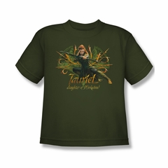 The Hobbit Desolation Of Smaug Shirt Kids Tauriel Military Green Youth Tee T-Shirt