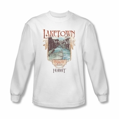 The Hobbit Desolation Of Smaug Shirt Laketown Long Sleeve White Tee T-Shirt