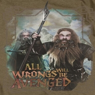 The Hobbit Wrongs Avenged Shirts