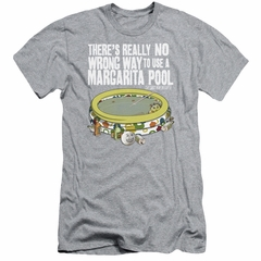 The Last Man On Earth Slim Fit Shirt Margarita Pool Athletic Heather T-Shirt
