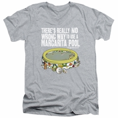 The Last Man On Earth Slim Fit V-Neck Shirt Margarita Pool Athletic Heather T-Shirt