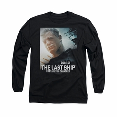 The Last Ship Shirt Captian Tom Long Sleeve Black Tee T-Shirt