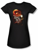 The Lord Of The Rings Juniors T-Shirt You Shall Not Pass Black Tee