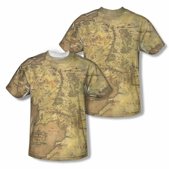 The Lord Of The Rings Middle Earth Map Sublimation Kids Shirt Front/Back Print