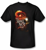 The Lord Of The Rings T-Shirt You Shall Not Pass Adult Black Tee Shirt