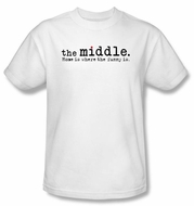 The Middle Kids T-shirt TV Show Logo White Tee Shirt Youth