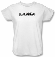 The Middle Ladies T-shirt TV Show Logo White Tee Shirt