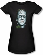 The Munsters Juniors T-shirt Hermans Head Black Tee Shirt