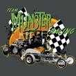 The Munsters Juniors T-shirt Team Munster Charcoal Gray Tee Shirt