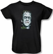 The Munsters Ladies T-shirt Hermans Head Black Tee Shirt
