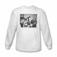 The Munsters Shirt Guitar Long Sleeve White T-Shirt