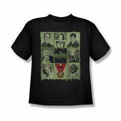 The Munsters Shirt Kids Blocks Black Youth T-Shirt
