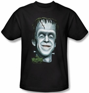 The Munsters T-shirt Hermans Head Adult Black Tee Shirt