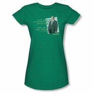 The Office Shirt Juniors Kevin's Dream Green T-Shirt