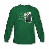 The Office Shirt Kevin's Dream Long Sleeve Green T-Shirt