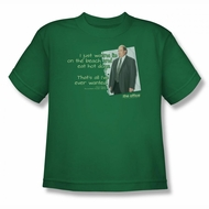 The Office Shirt Kids Kevin's Dream Green Youth T-Shirt