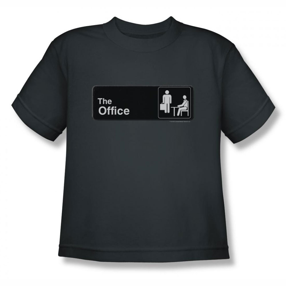the office shirt kids sign logo charcoal youth t shirt