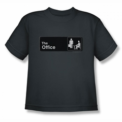 The Office Shirt Kids Sign Logo Charcoal Youth T-Shirt