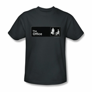 The Office Shirt Sign Logo Charcoal T-Shirt