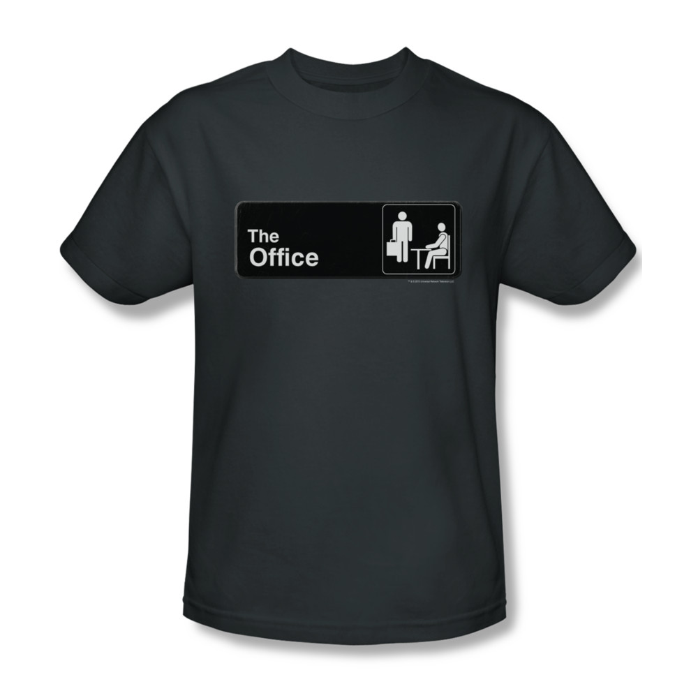 the office shirt sign logo charcoal t shirt the office