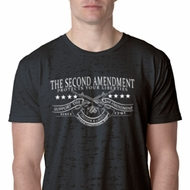 The Second Amendment Mens Burnout Shirt