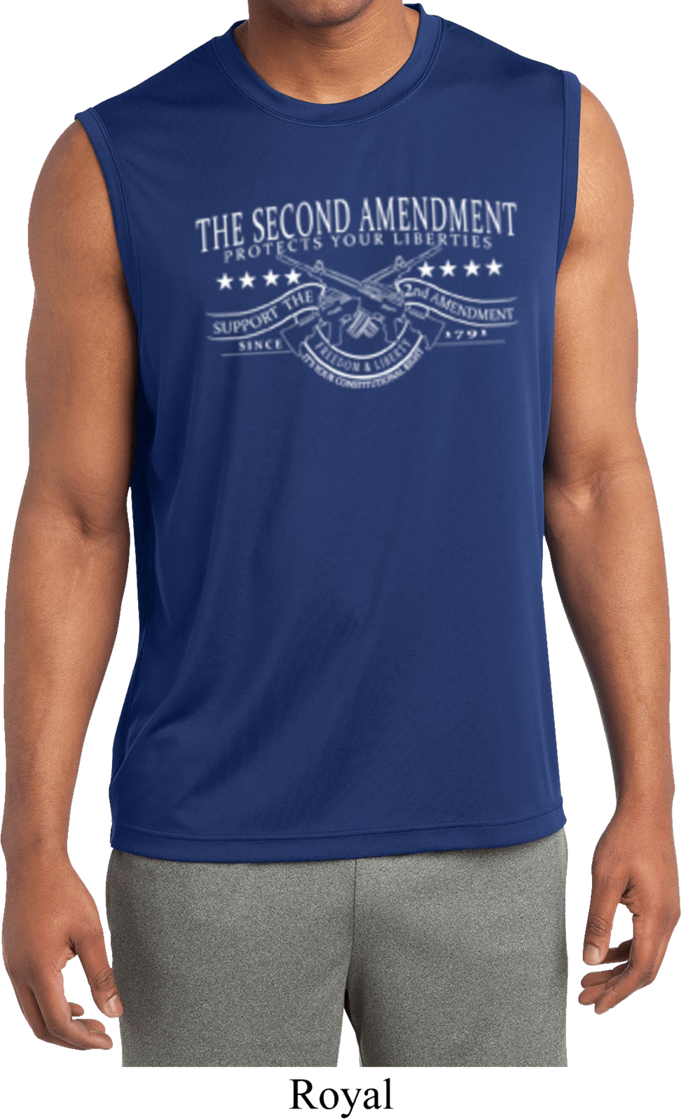 The Second Amendment Mens Sleeveless Moisture Wicking