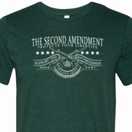 The Second Amendment Mens Tri Blend Crewneck Shirt