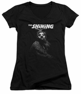 The Shining  Juniors V Neck Shirt Bear Black T-Shirt