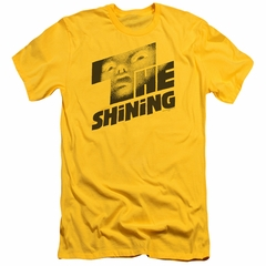 The Shining  Slim Fit Shirt Movie Poster Yellow T-Shirt