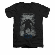 The Thing Shirt Slim Fit V Neck Shine Poster Black Tee T-Shirt