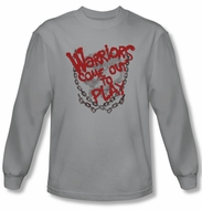 The Warriors Shirt Come Out And Play Long Sleeve Silver Tee T-Shirt