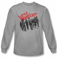 The Warriors Shirt The Gang Long Sleeve Athletic Heather Tee T-Shirt
