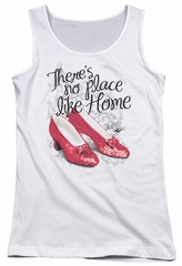 The Wizard Of Oz  Juniors Tank Top Red Ruby Slippers White Tanktop