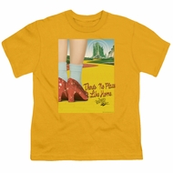 The Wizard Of Oz  Kids Shirt The Way Home Gold T-Shirt