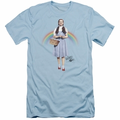 The Wizard Of Oz  Slim Fit Shirt Over The Rainbow Light Blue T-Shirt