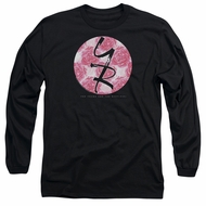 The Young And The Restless Long Sleeve Shirt Young Roses Logo Black Tee T-Shirt