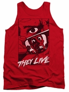 They Live  Tank Top Graphic Poster Red Tanktop