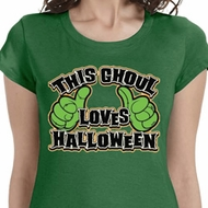 This Ghoul Loves Halloween Ladies Halloween Shirts