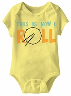 This Is How I Roll Funny Baby Romper Yellow Infant Babies Creeper