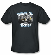 Three Stooges Kids Shirt Bottoms Up Funny Charcoal Tee T-Shirt Youth
