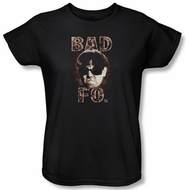 Three Stooges Ladies Shirt Bad Moe Fo Funny Black Tee T-shirt