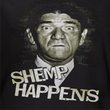 Three Stooges Ladies Shirt Shemp Happens Black Tee T-Shirt