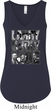 Three Stooges Larry Curly Moe Ladies Flowy V-neck Tank Top