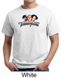 Three Stooges Organic T-shirt Funny Faces Adult Tee Shirt
