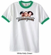 Three Stooges Ringer Shirt Funny Faces Adult Shirt